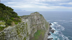 Cape Point Table Mountain National Park Stock Footage