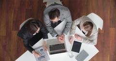 Business Team Analyzing Statistics Stock Footage