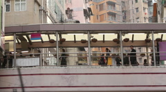 Mid-levels overpass in Hong Kong Stock Footage