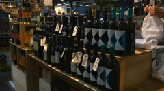 This is the place to go if you´re looking for good wine Stock Footage