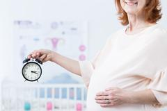Time for childbirth - stock photo