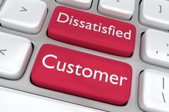 Dissatisfied Customer concept - stock illustration