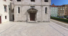 Saint Mary church and monastery in Zadar, Croatia Stock Footage
