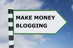 Make Money Blogging concept Stock Illustration