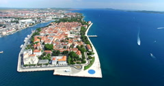 Aerial view of Zadar, Croatia Stock Footage
