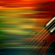 abstract grunge music background with violin - stock illustration