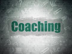 Stock Illustration of Studying concept: Coaching on Digital Paper background