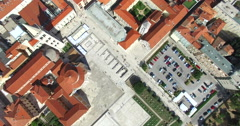 Aerial view of Roman Forum and Kalelarga in Zadar, Croatia Stock Footage