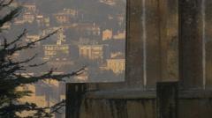 Trieste seen behind Parco della Rimembranza's fountain Stock Footage
