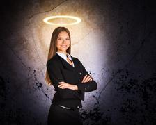 Businesslady with nimbus Stock Photos