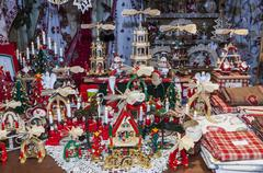Detail of a Christmas Market Stand - stock photo