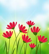 Sunny Day background - stock illustration