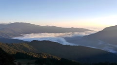 4K timelapse of Hehuanshan, sun rise Stock Footage