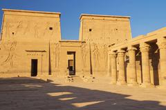 He Temple of Isis at Philae island. ( Egypt) Kuvituskuvat