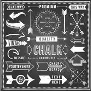 Vintage Chalkboard Arrows - stock illustration