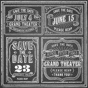Vintage Chalkboard Backgrounds - stock illustration
