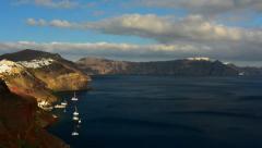A timelapse in Oia, Santorini - stock footage