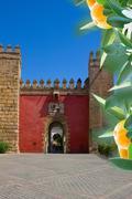 Gate  to  Real Alcazar, Sevilla, Spain Stock Photos