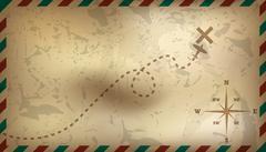Postal background. Vector illustration - stock illustration