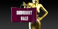 Midnight Sale - stock illustration