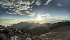 Perfect Time Lapse Dawn, High Altitude HDR, Flawless - stock footage