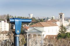 Coin Operated Telescope for Sightseeing. - stock photo