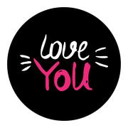 love you hand lettering - handmade calligraphy ,scalable and editable vector - stock illustration