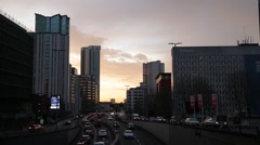 Morning Traffic in Birmingham, UK Stock Footage