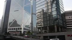 Hong Kong skyscrapers, Bank of China Stock Footage