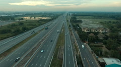 Traffic in motor way bangkok thailand Stock Footage