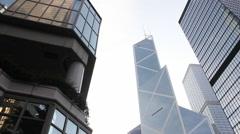 Bank of China Tower, Hong Kong Stock Footage