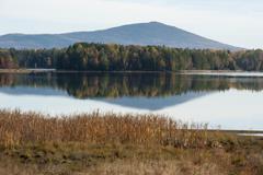 Tranquil lake scene Stock Photos