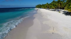 Beach 180 degrees - Saona Island - Stock Footage