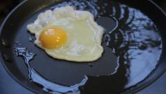 fried eggs - stock footage