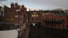 Regency Wharf - Birmingham, UK Stock Footage