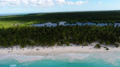 RD - Saona - beach landing Stock Footage