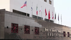 Bank of America offices, Hong Kong Stock Footage