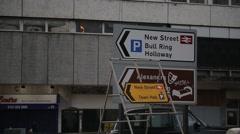Traffic Sign in Birmingham, UK Stock Footage