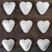 Heart shaped ravioli - stock photo