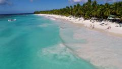 Turquoise Water White Sand beach Stock Footage