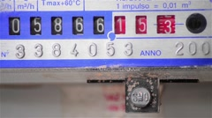 Gas meter that spins rapidly due to high consumption Stock Footage