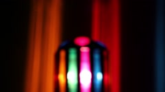 Colorful Party Ball Light out of focus Stock Footage