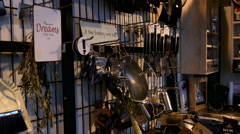 Cookware for the luxury kitchen - stock footage