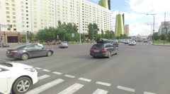 Driving through city shot - Astana - stock footage