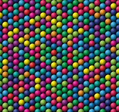 Seamless vector texture - bubbles whit basic colors Stock Illustration