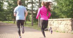 Increasing Running Speed Stock Footage