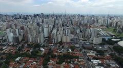 Aerial View of Sao Paulo Skyscrapers, Brazil Stock Footage