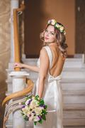 Spin Bride Dress Stock Photos