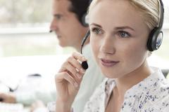 Stock Photo of Call center operators provide daily customer service