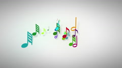 Slow motion of the musical notes with depth of field 4K - stock footage